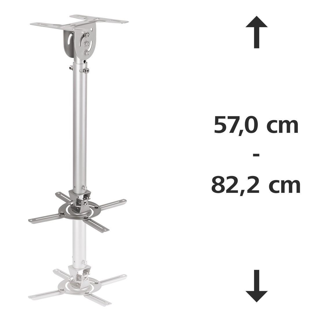 Таванна стойка за проектор HAMA 108785, 8 kg, Silver