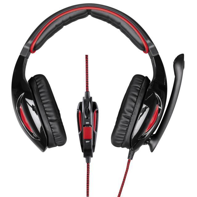 Геймърски слушалки Hama, Fire Fighter, Микрофон, Черно/Червено