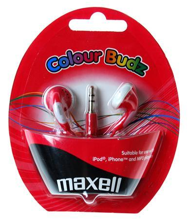 Слушалки  MAXELL color BUDS, In-Ear, Червен