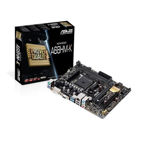 Дънна платка ASUS A68HM-K, Socket FM2+, Micro ATX, 2xDDR3, D-Sub, DVI