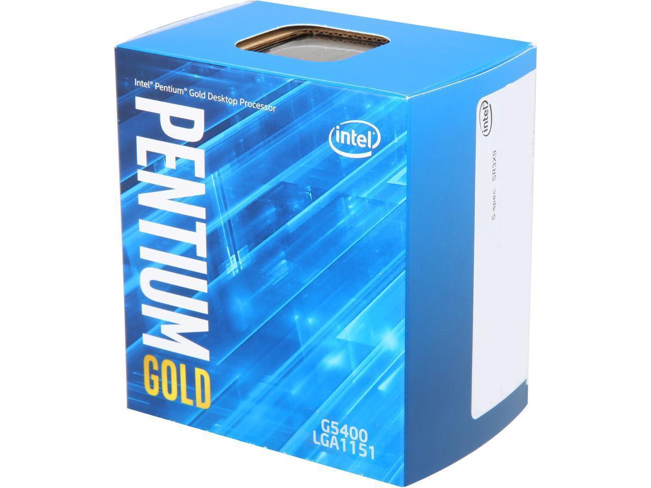 Процесор Intel Pentium Gold G5400 Coffee Lake  3.7GHz, 4MB, 58W LGA1151, Box