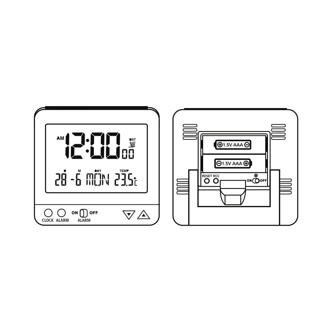 Радио часовник HAMA RC 550 113966, Черен