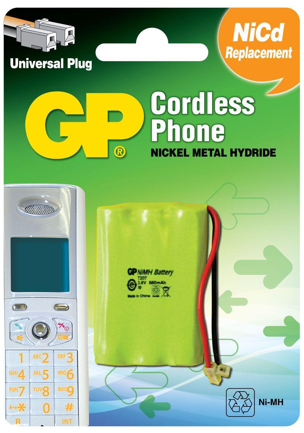Батерия за телефон GP 3*ААА 3.6V NiMH 550mAh GPT207