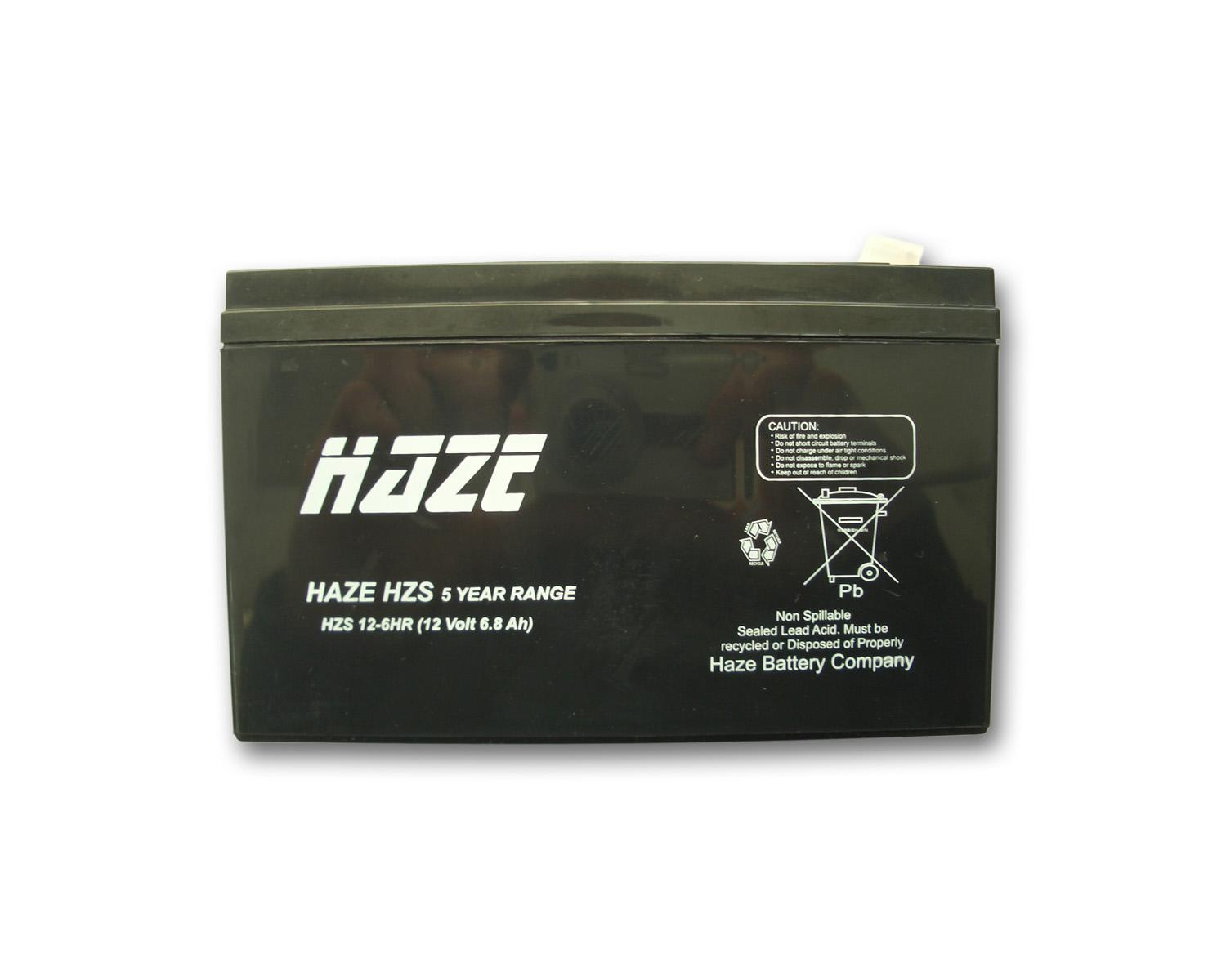Оловна Батерия Haze (HZS12-6HR) 12V / 6Ah High Rate - 151/ 51/ 93mm AGM