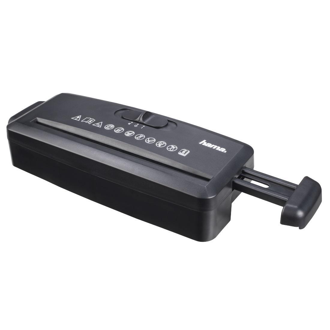 Шредер Hama Mini S6, Черен