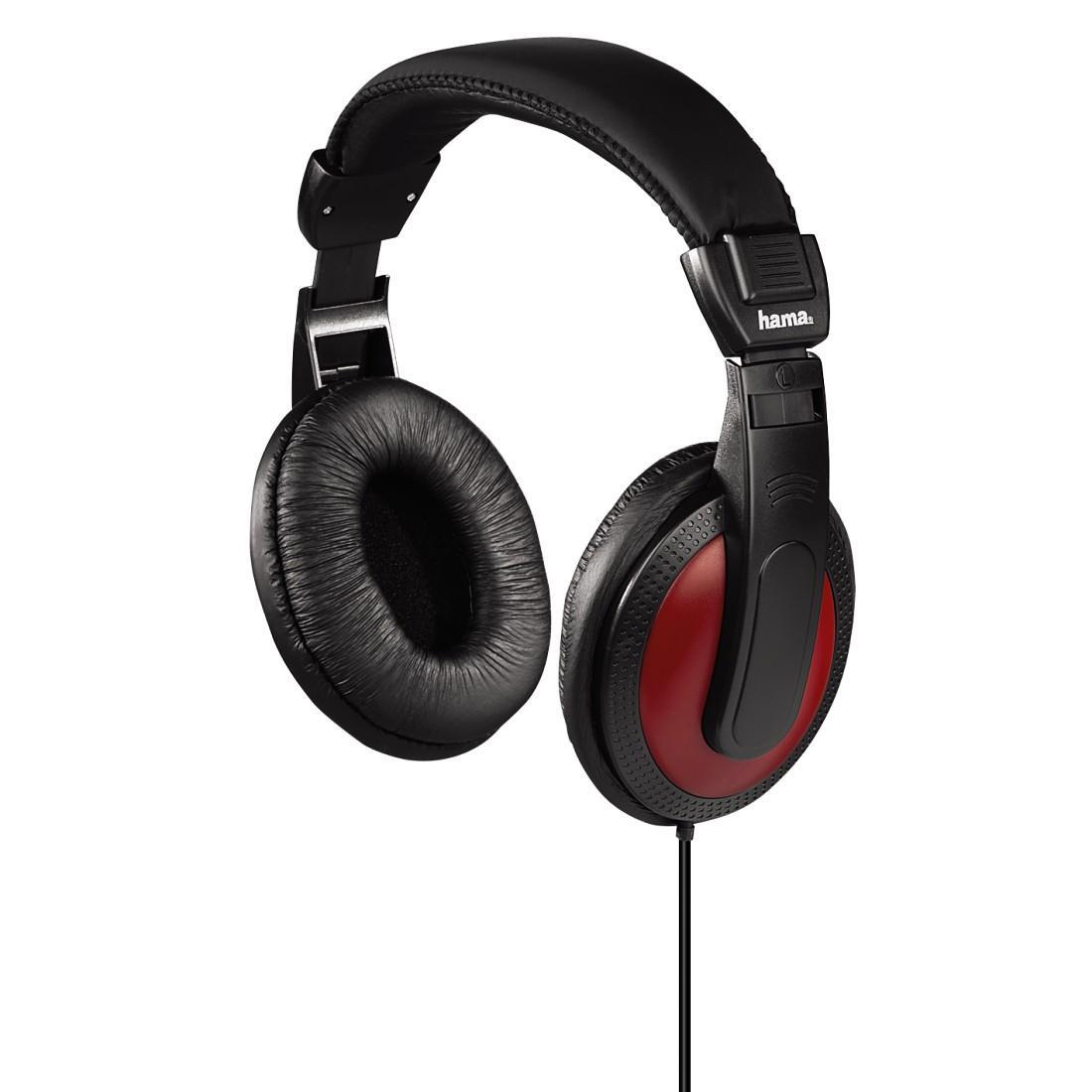 Слушалки HAMA-135618,Basic4Music ,HK-5618 с 2 м кабел ,Черен/Червен