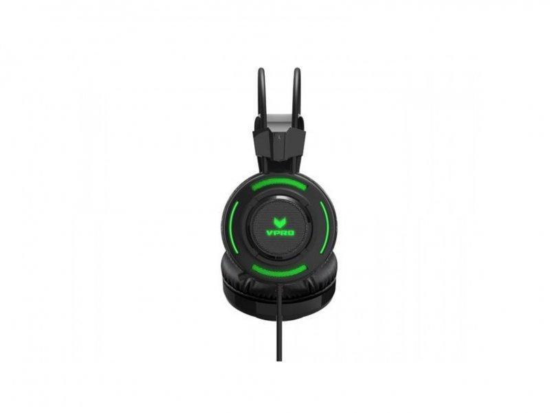 Геймърски слушалки Rapoo VH200, Микрофон, Черен