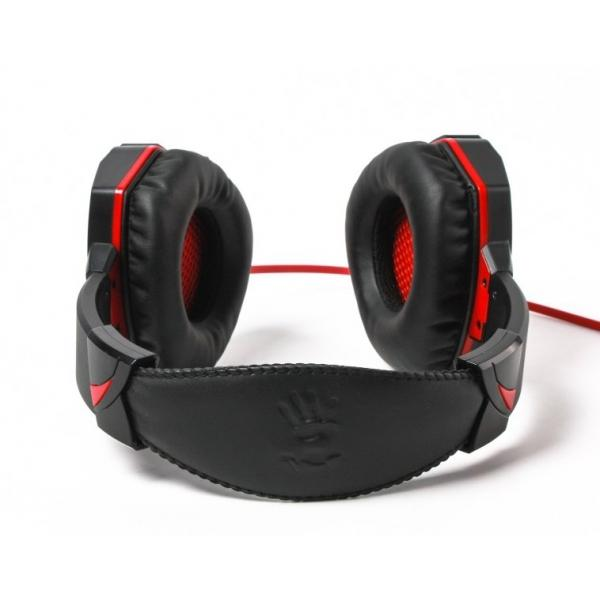 Геймърски слушалки A4TECH Bloody G500, Микрофон, Черно/Червено