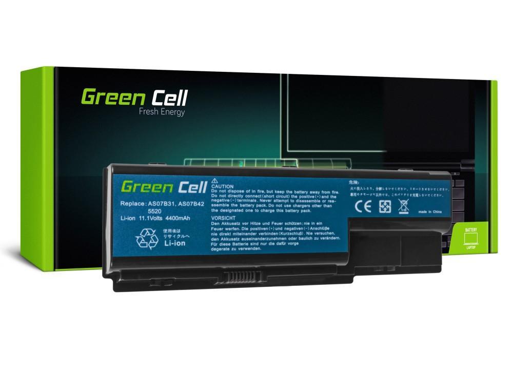 Батерия  за лаптоп Acer Aspire 7720 7535 6930 5920 5739 5720 5520 5315 5220  AS07B41 11.1V 4400mAh GREEN CELL