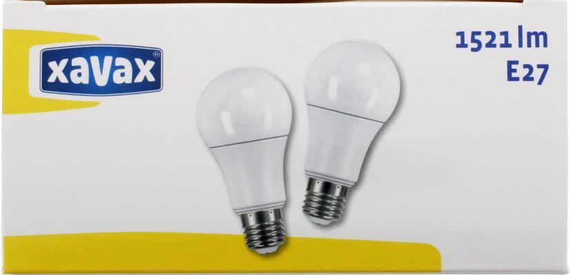 LED крушка XAVAX 112281, 14.5W, E27, 2700K, bulb, 2 бр