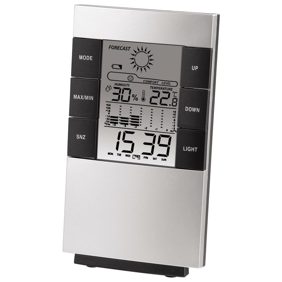 Цифров термометър/хигрометър HAMA TH-200 87682, Черен/Сив