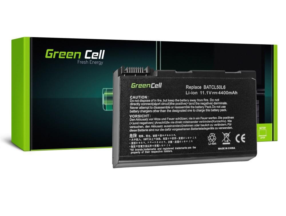 Батерия  за лаптоп Acer Aspire 3100 3690 5010 5100 5610 5630 BL52 BATCL50L6 11.1V 4400mAh GREEN CELL