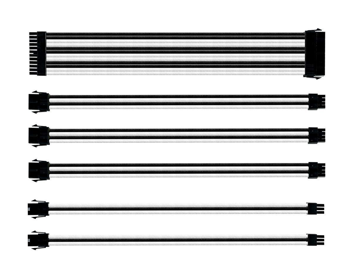 Комплект оплетени кабели Cooler Master White & Black