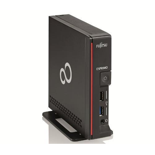 Настолен компютър Fujitsu ESPRIMO G558, Intel Pentium Gold G5400 3.7Ghz 4MB, 4Gb-2666, SSD SATA3 64GB, Win10 Pro, Мишка, Черен