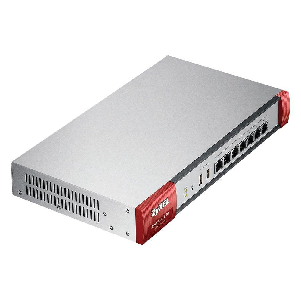 ZYXEL ZyWALL 110, SPI firewall 1600Mbps, VPN 400 Mbps