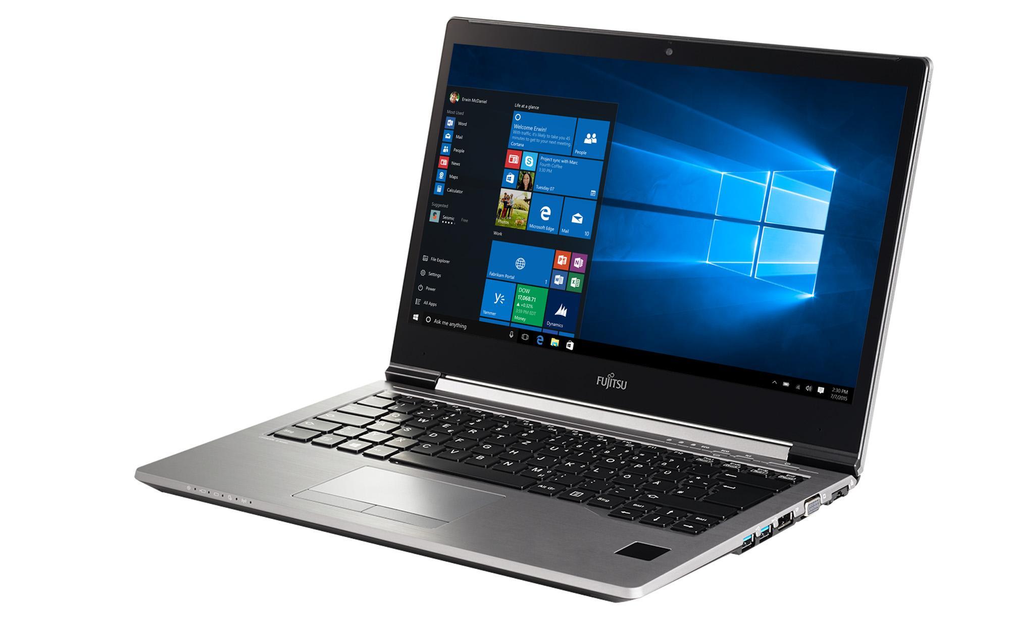 """Лаптоп FUJITSU LIFEBOOK U745, Intel Core i5-5300U (3MB 2.3GHz), 14.1"""", 4GB, 500GB SSHD, без ОС, Intel HD Graphics 5500, Сребрист"""