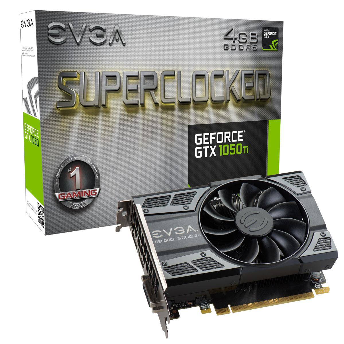 Видео карта  EVGA GeForce GTX 1050 Ti SC GAMING 04G-P4-6253-KR, 4GB, GDDR5, 128 bit, DVI-D, DisplayPort, HDMI