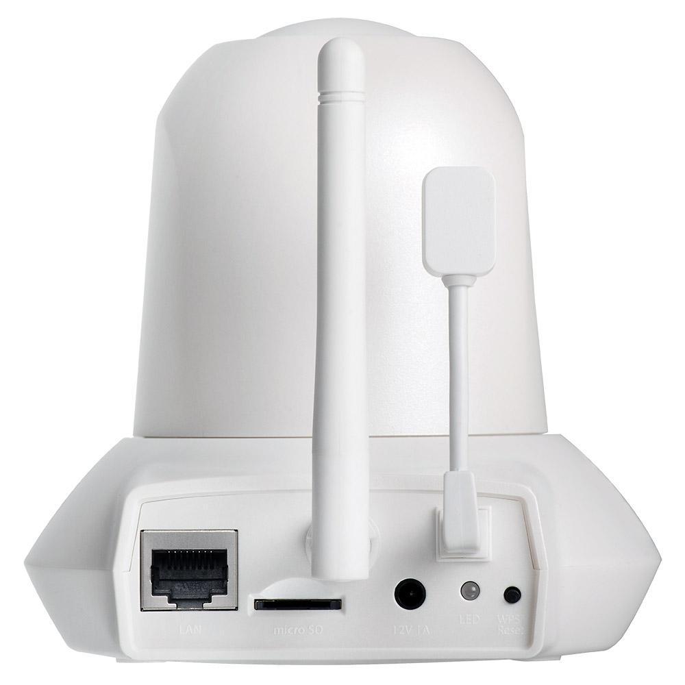 Камера за наблюдение IP EDIMAX IC-7113W, безжична, Pan/Tilt, нощно виждане, слот за карта, сензор за температура и влага
