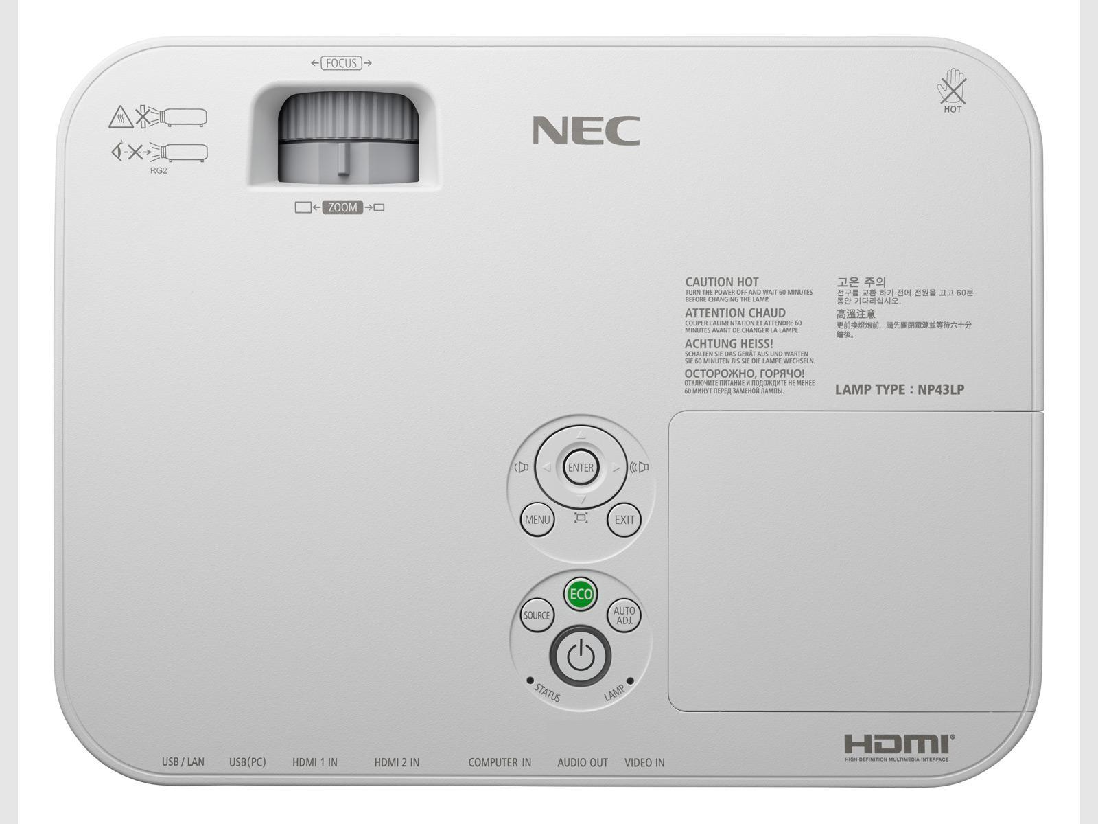 Видеопроектор NEC ME301W,  1280 x 800 (WXGA) , 3000 ANSI, 3D Ready, LCD