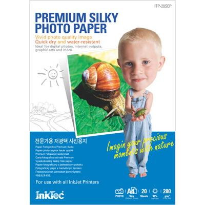 Хартия INKTEC Premium Silky/сатен/ Paper, 20sh, A4, 280g/m2