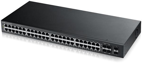 Суич ZYXEL GS2210-48,  48 портов управляем L2, Gigabit, за монтаж в шкаф