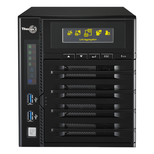 Мрежов сторидж Thecus NAS N4800ECO Tower до 4 диска до 40TB,Intel® Atom™ (2.13GHz, Dual-Core),2GB DDR3, USB2.0,USB 3.0,HDMI,VGA