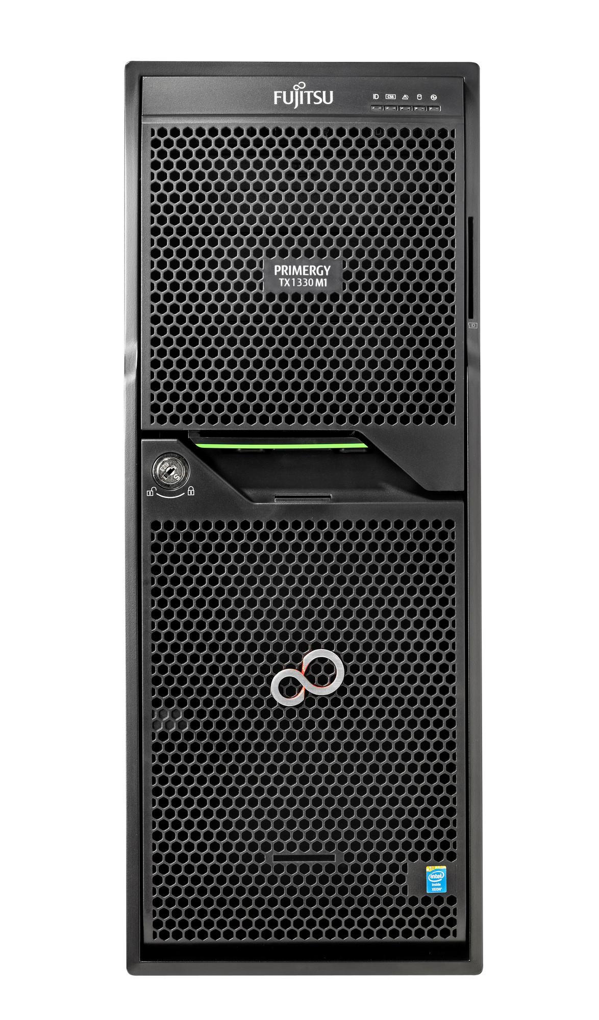 """Сървър Primergy TX1330M3 SFF Xeon E3-1220v6/ 8GB RAM/ 8 x 2.5""""EXP/ DVD-RW/450W"""