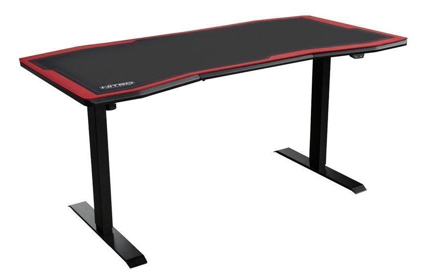 Геймърско бюро Nitro Concepts D16E, Carbon Red, Електрическо управление на височина