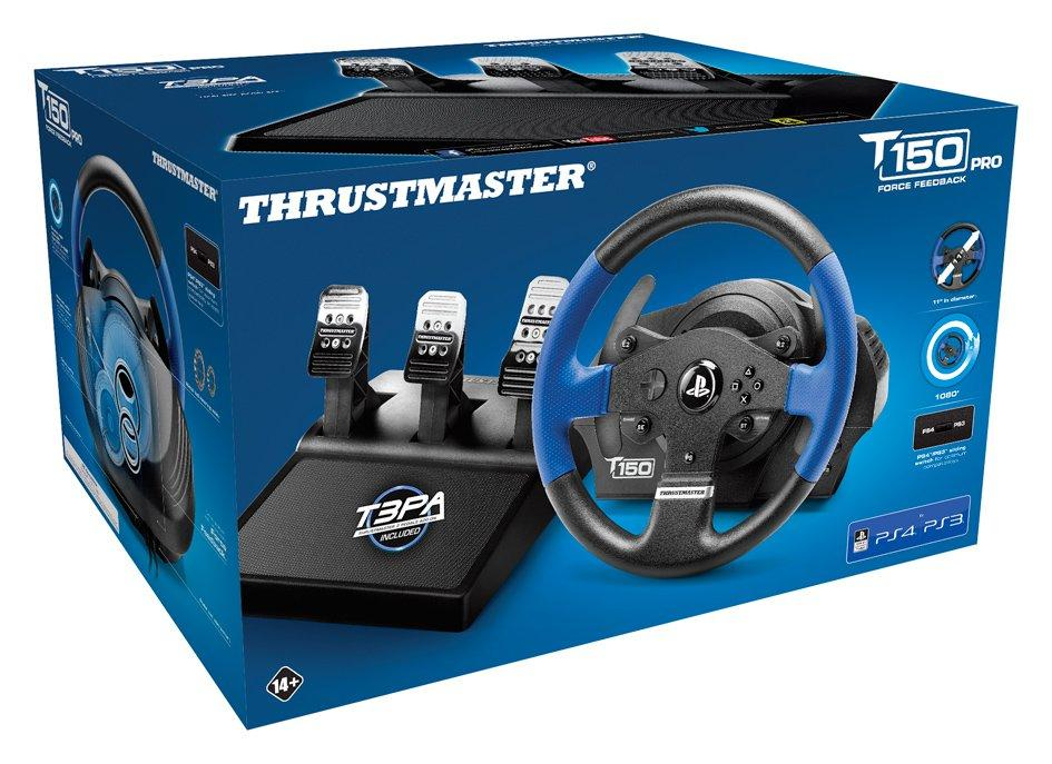 Волан THRUSTMASTER Racing Wheel T150 PRO PS3/PS4/PC, Черен/Син
