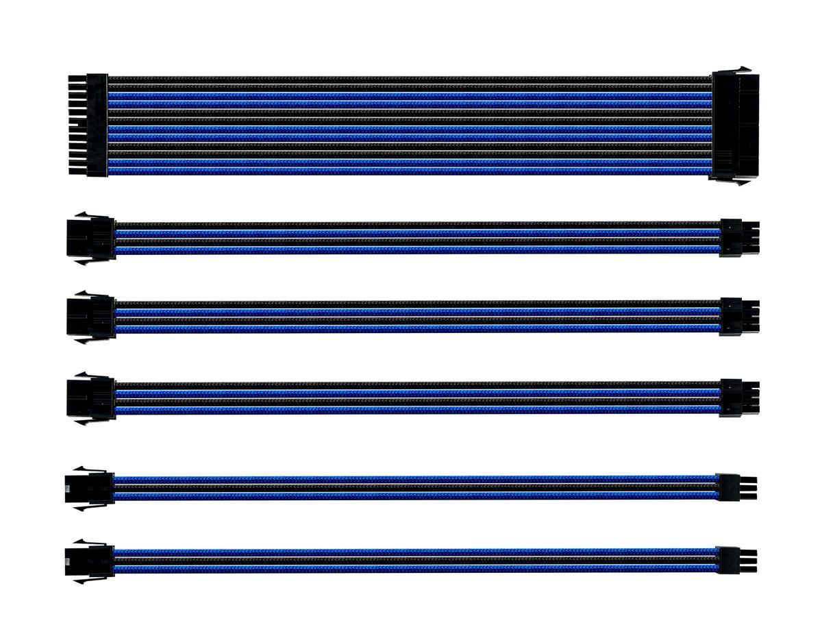 Комплект оплетени кабели Cooler Master Black & Blue