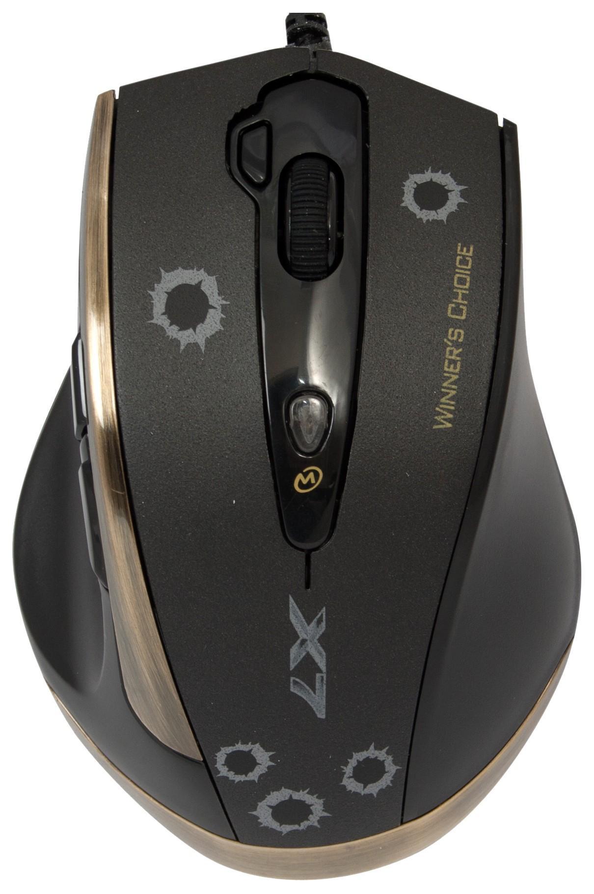 Геймърска мишка A4tech, V-track F3, Лазерна, Кабел, USB