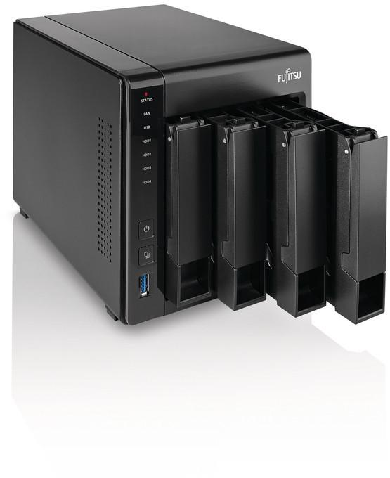Мрежов Сторидж Fujitsu CELVIN NAS Server Q805, up to 4 x HDD, 1.99 GHz, 2 GB DDR3L