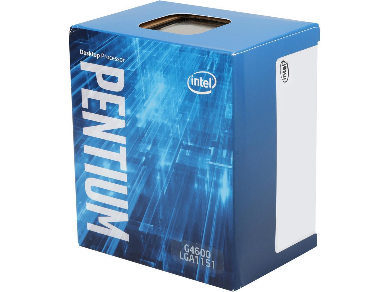 Процесор Intel Pentium G4600, 3.6 GHz, 3M Cache, ,51W, LGA1151,  Intel HD Graphics 630, BOX