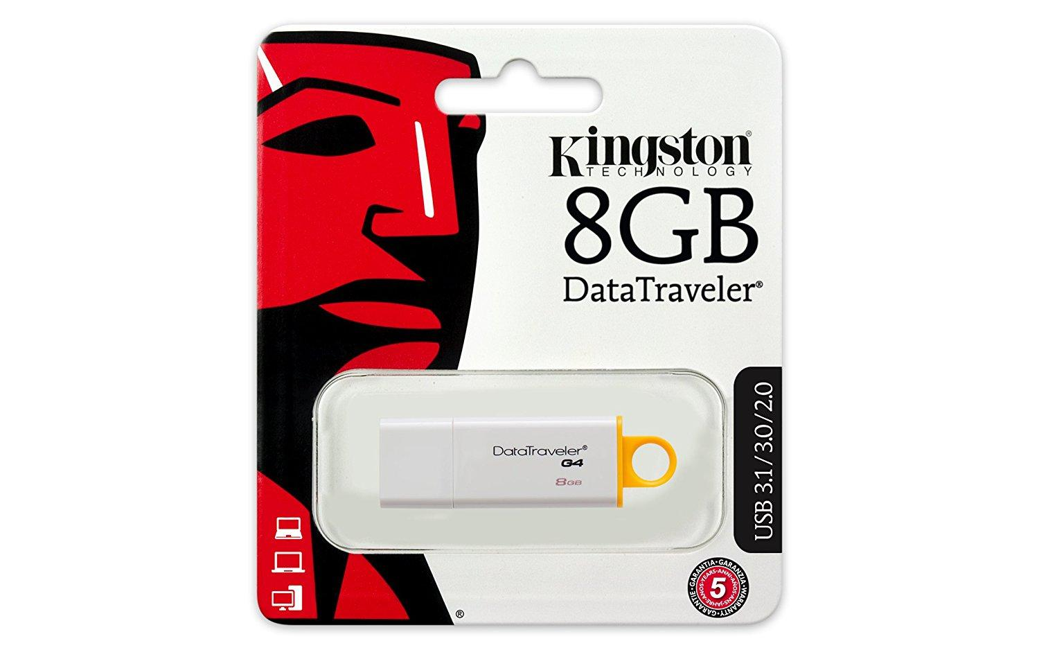 USB памет KINGSTON DataTraveler G4, USB 3.0, 8GB