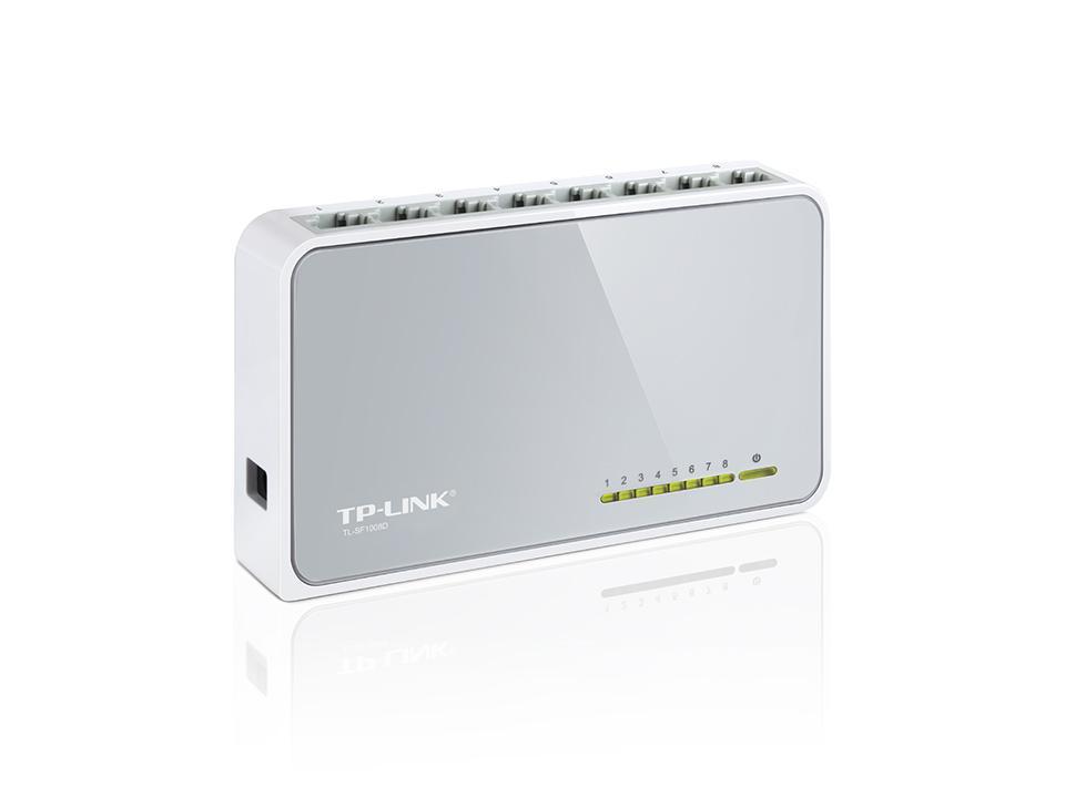 Суич TP-LINK TL-SF1008D, 8 портов, 10/100Mbps