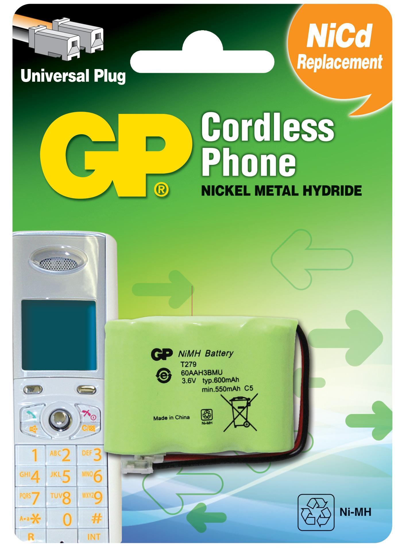 Батерия за телефон GP 3*1/2АА 3.6V NiMH 600mAh GPT279