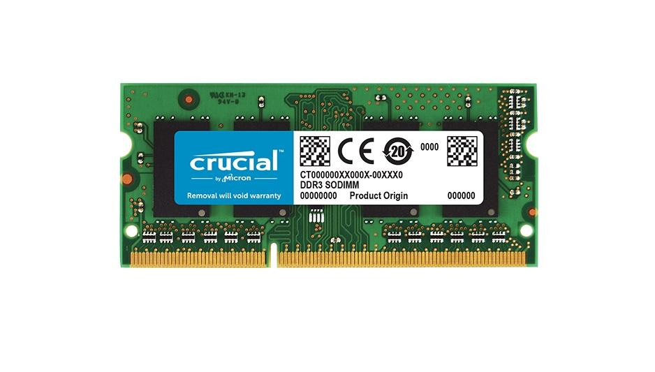 Памет Crucial CT51264BF160BJ, 4GB DDR3L SODIMM, PC3-12800, 1600MHz, CL11