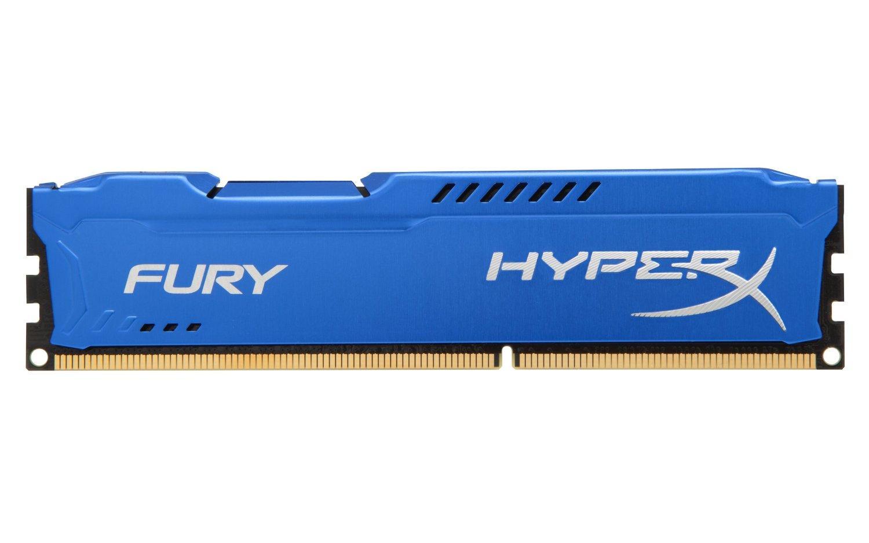 Памет HyperX Fury Blue 4GB DDR3 PC3-12800 1600MHz CL10 HX316C10F/4