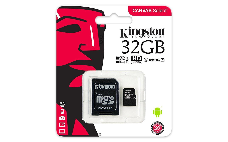 Карта памет Kingston Canvas Select micro SDHC UHS-I, 32GB, Class 10