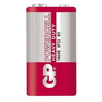 Цинк карбонова батерия GP Powercell 1604ER-S1, 6F22, 9V, 1 бр. shrink