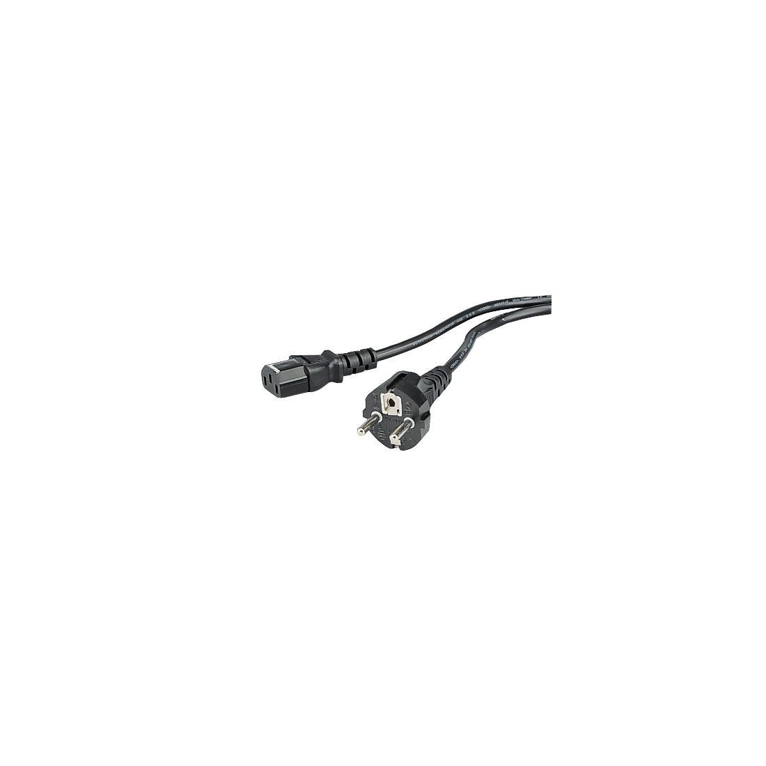 Удължителен захранващ кабел HAMA 29934, 3-pin socket, 1.5 m, Черен