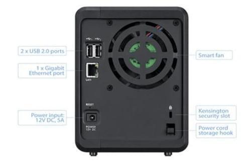 Мрежов сторидж ZyXEL NAS 320S с  2 диска по 1TB, Гигабит, USB2.0