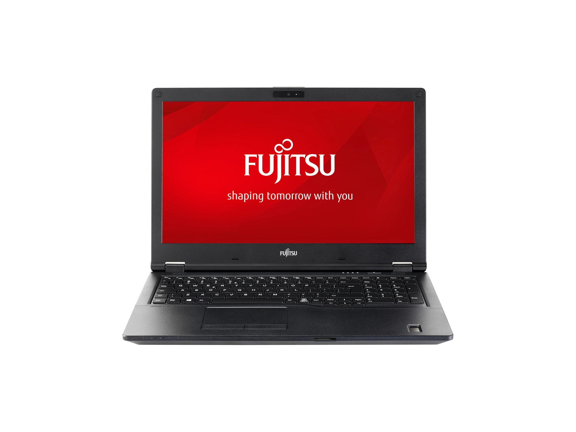 "Лаптоп Fujitsu Lifebook E458, Intel Core i3-7130U, 4Gb,1TB, 15.6""HD, Черен"