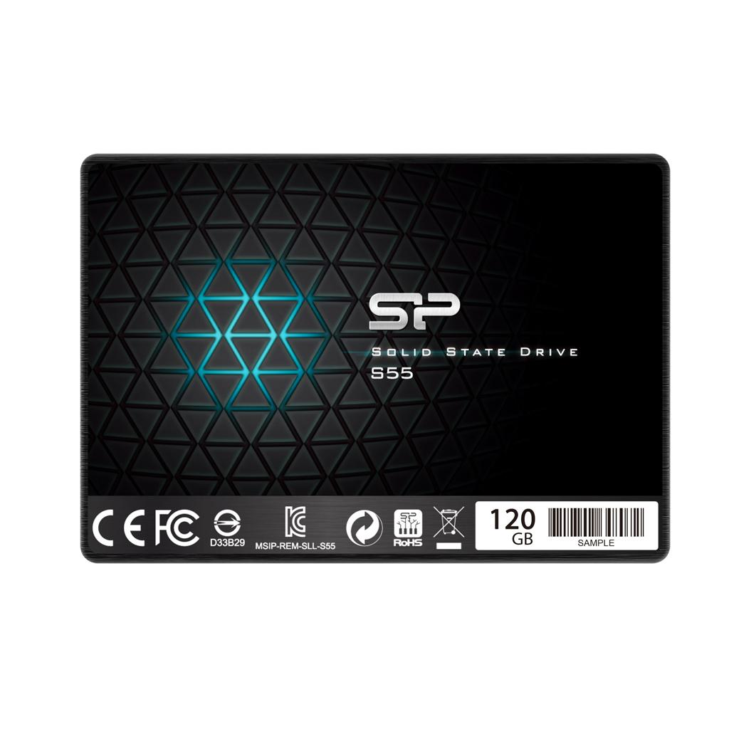 "Solid State Drive (SSD) SILICON POWER S55, 2.5"", 120 GB, SATA3"