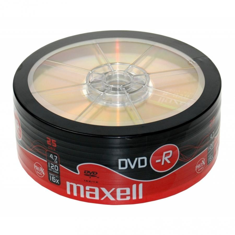 DVD-R MAXELL, 4,7 GB, 16x, 25 бр.
