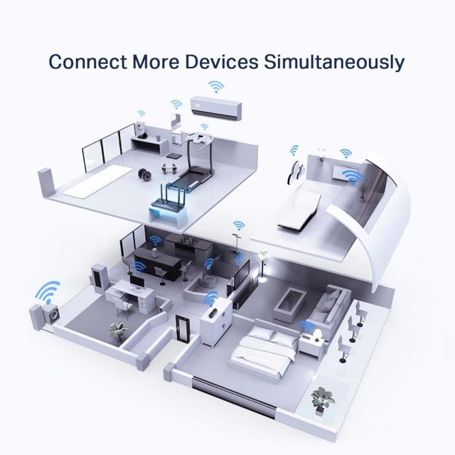Безжичен рутер TP-Link Archer AX50 AX3000, 2.4/5 GHz, 574 - 2402 Mbps, 10/100/1000
