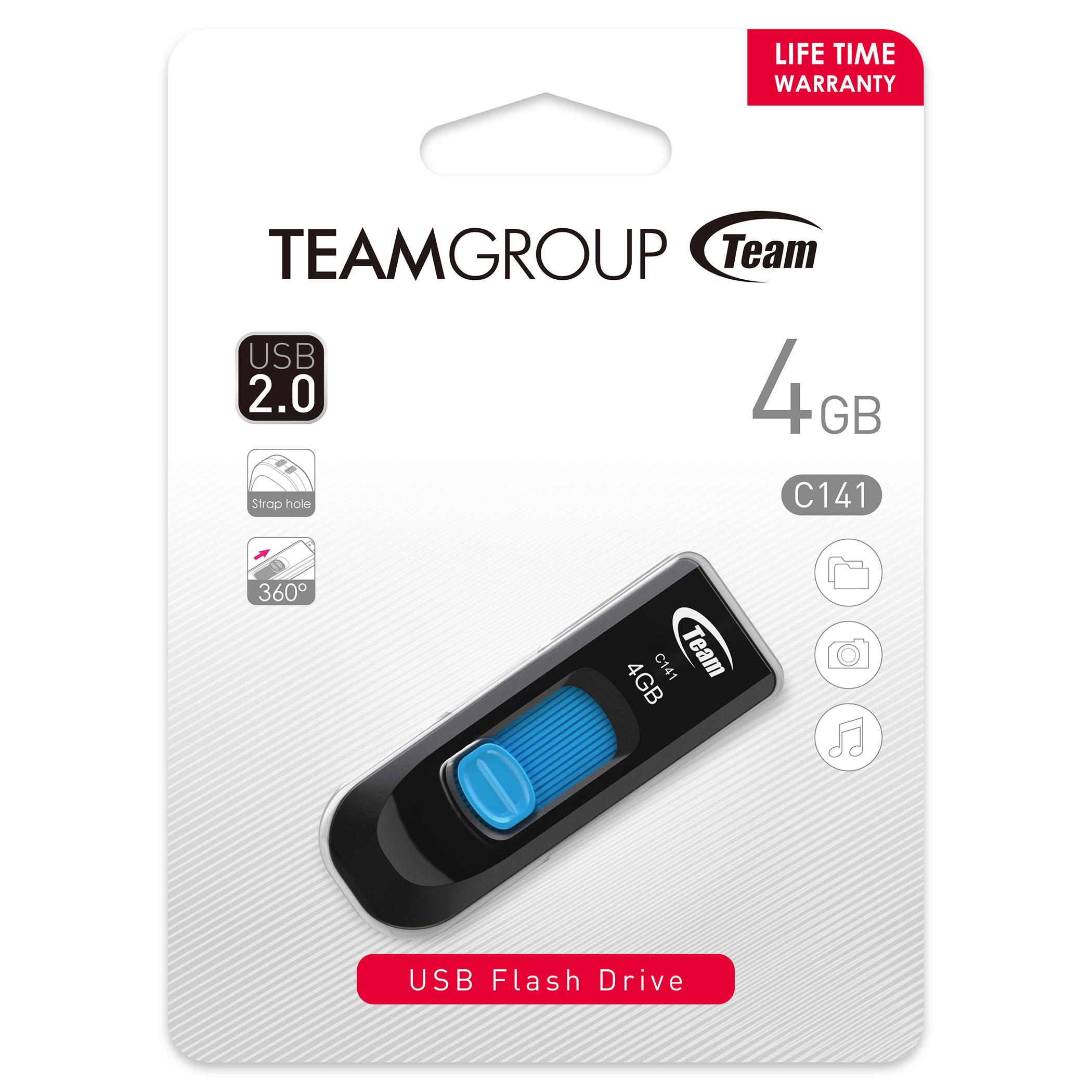 USB памет Team Group C141, 4GB, USB 2.0, Син