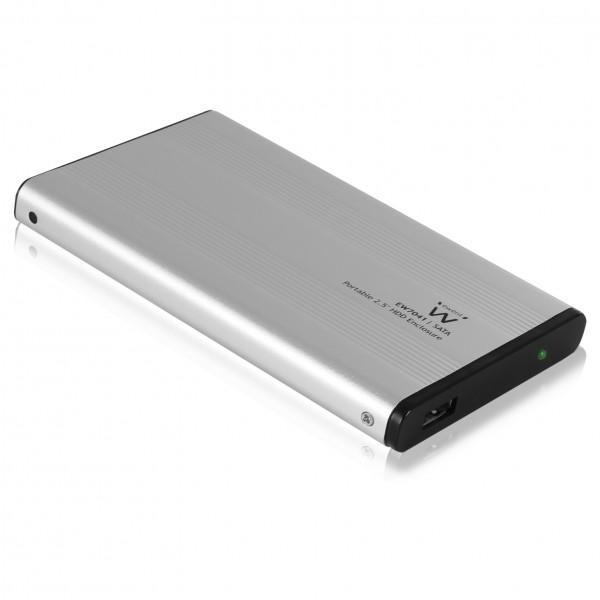 """Чекмедже за твърд диск Ewent EW7041 2.5"""", USB 2.0, Сив"""