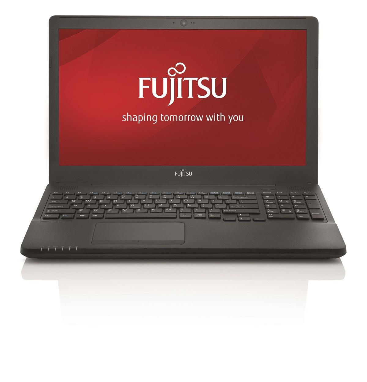 "Лаптоп FUJITSU LIFEBOOK A556, Intel Core I5-6200U (3MB 2.3GHz), 15.6"", 4GB, 1000 GB SATA 5400rpm, без ОС, Intel HD Graphics 520, Черен"