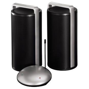 Tонколони безжични FL-976, 2.0, 3.5W, черно и сиво